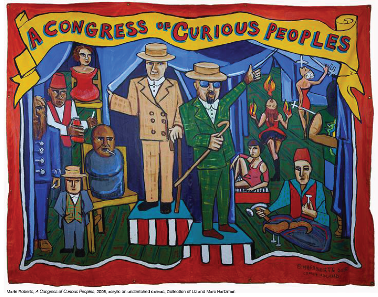 Painting of A Congress of Curious Peoples by Marie Roberts